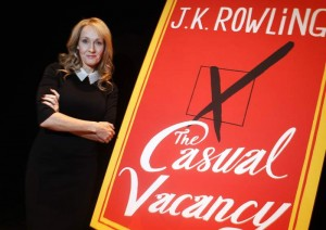 """Author J.K. Rowling poses for a portrait while publicizing her adult fiction book """"The Casual Vacancy"""" at Lincoln Center in New York October 16, 2012. REUTERS/Carlo Allegri (UNITED STATES - Tags: ENTERTAINMENT PROFILE SOCIETY MEDIA PORTRAIT)"""