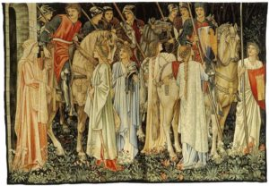 The Arming and Departure of the Knights of the Round Table on the Quest for the Holy Grail  de Edward Burne-Jones